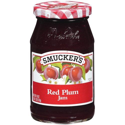 Smuckers Red Plum Jam, 18 oz