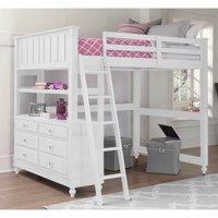 Rosebery Kids Full Loft Bed in White