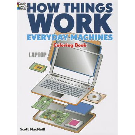 How Things Work: Everyday Machines Coloring Book ()