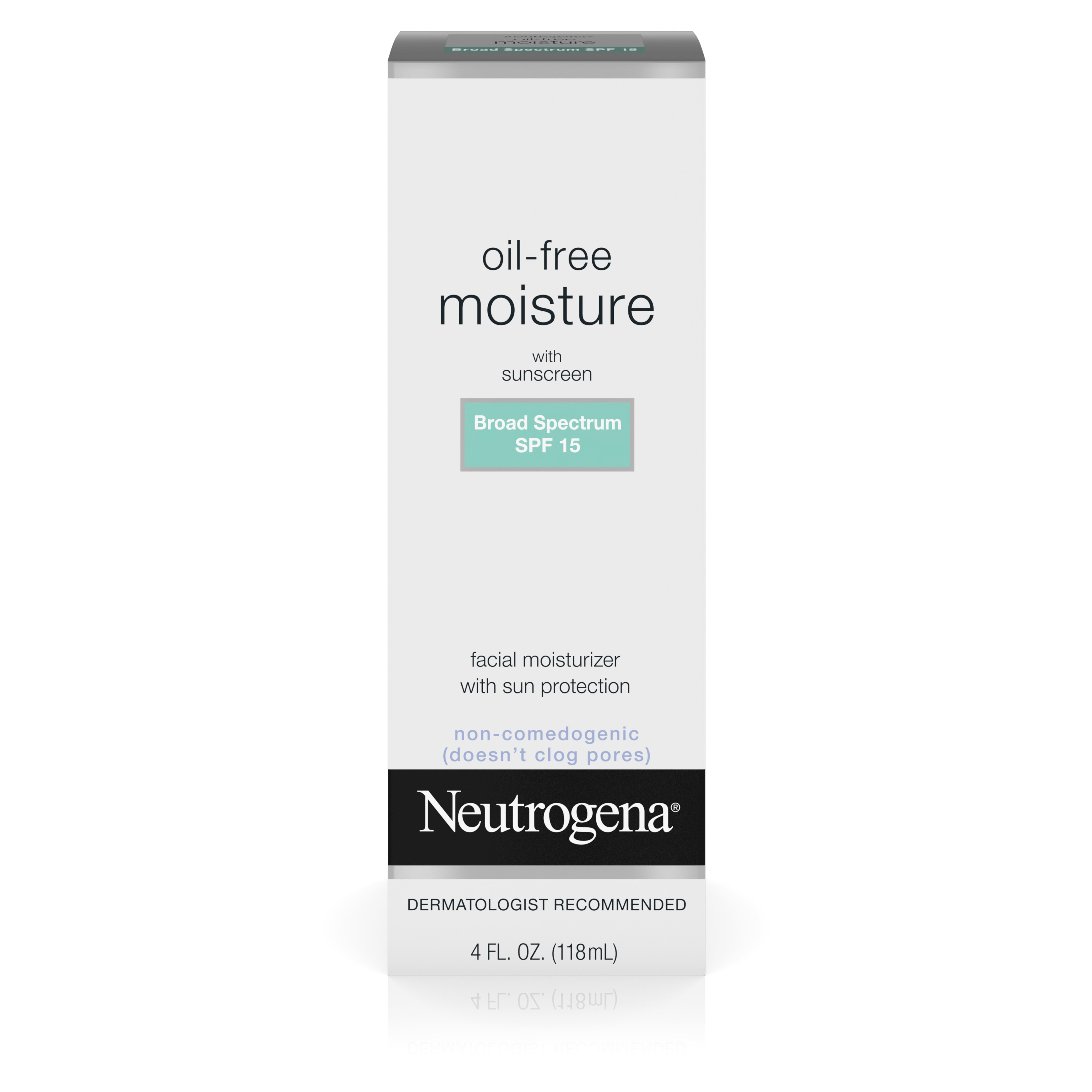 Neutrogena Oil-Free Moisture With Broad Spectrum Spf 15 Sunscreen, 4 Fl. Oz. - Walmart.com