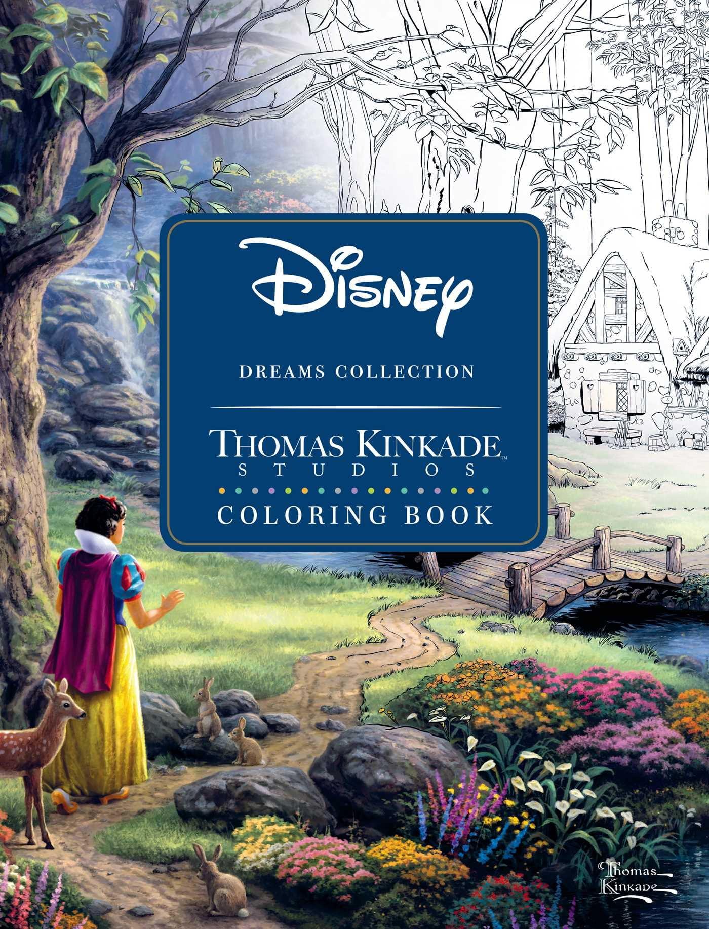 - Disney Dreams Collection Thomas Kinkade Studios Coloring Book