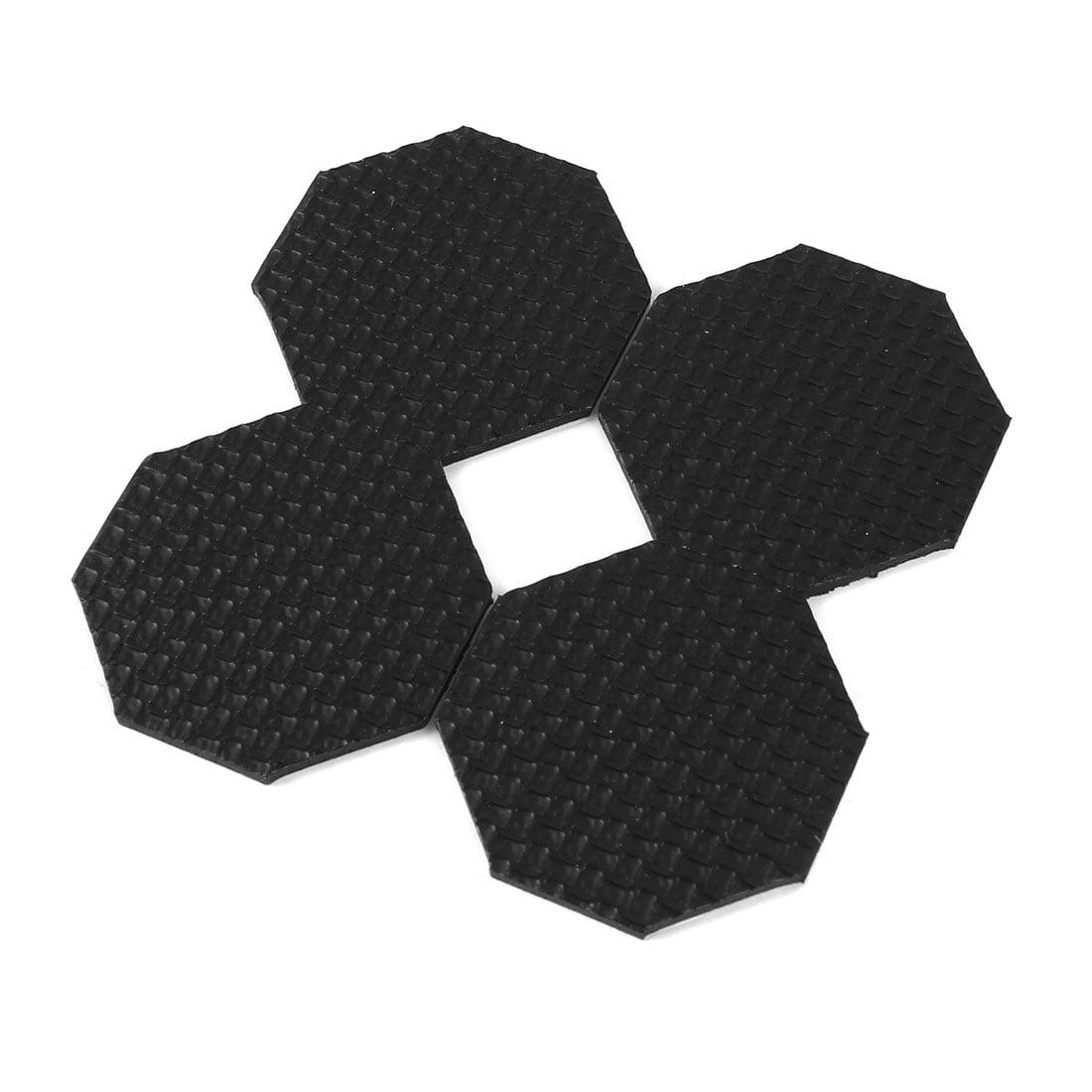 Unique Bargains 4 Pcs Antislip Foam Hexagon 2mm x 45mm Adhesive Chair Foot Cover Table Furniture Leg Protector Balck