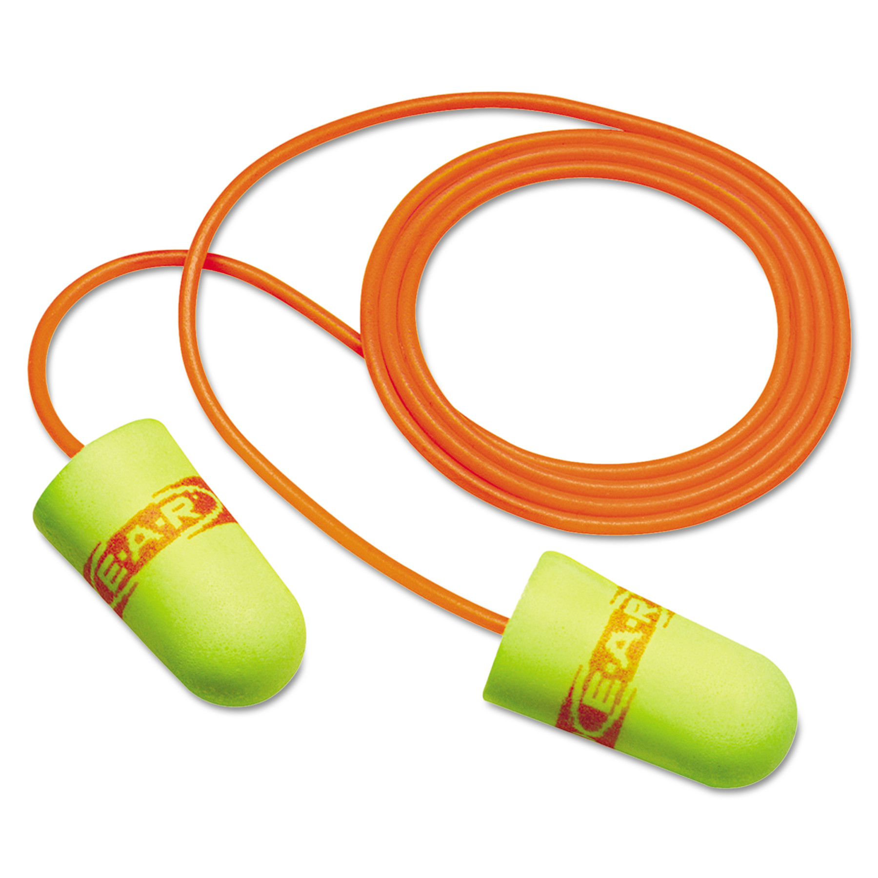 3M E·A·Rsoft SuperFit Single-Use Earplugs, Corded, 33NRR, Yellow/Red, 200 Pairs