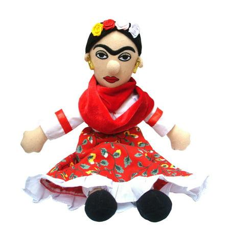 Frida Kahlo Little Thinker Plush Doll Mexican Artist Novelty Funny Gift Art ()