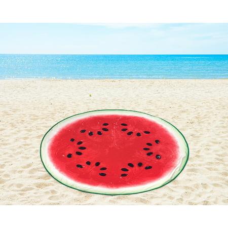 Mainstays Round Watermelon Beach Towel, 1 Each