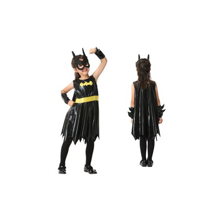 Girl's Bat Superhero Halloween Costume 3 Piece Set