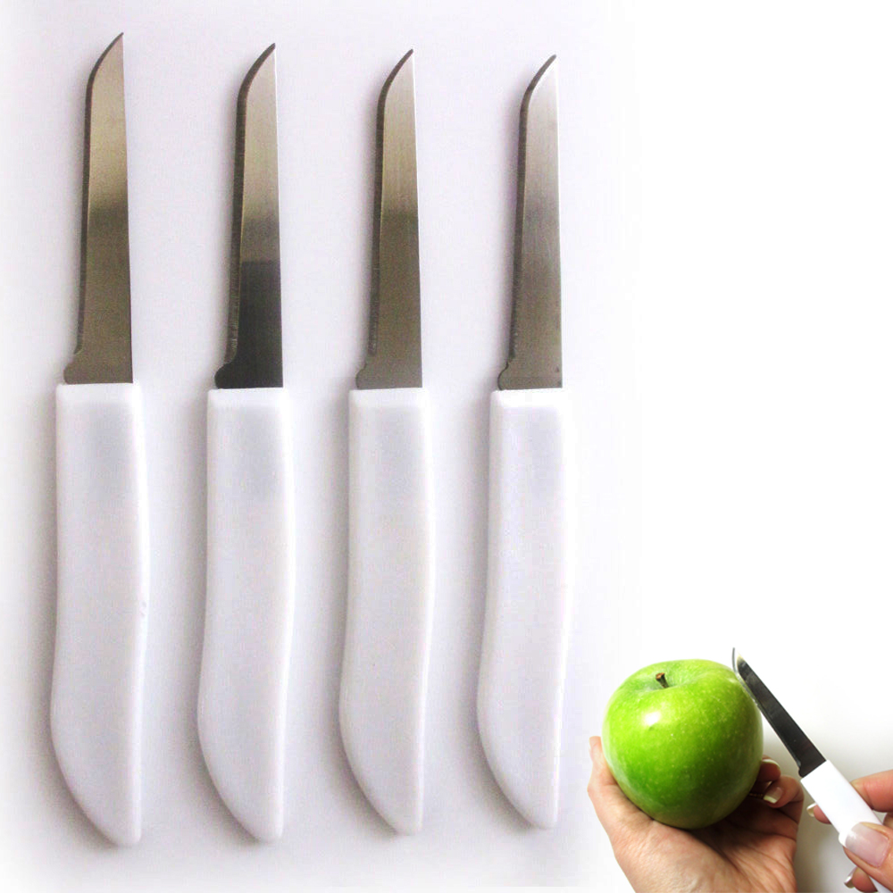 4 Paring Knives Stainless Steel Set Sharp Kitchen Blades Cutlery Cooking Knife