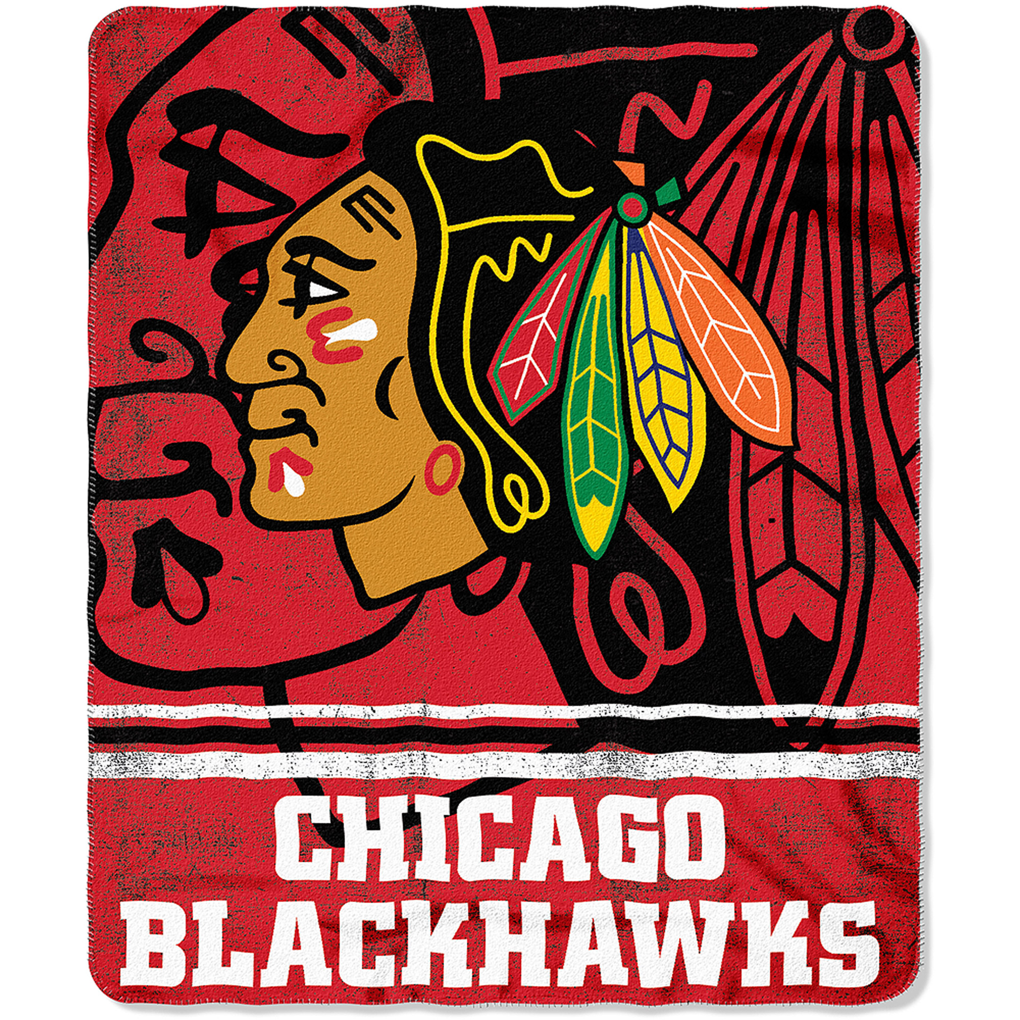 "NHL Chicago Blackhawks 50"" x 60"" Fleece Throw"
