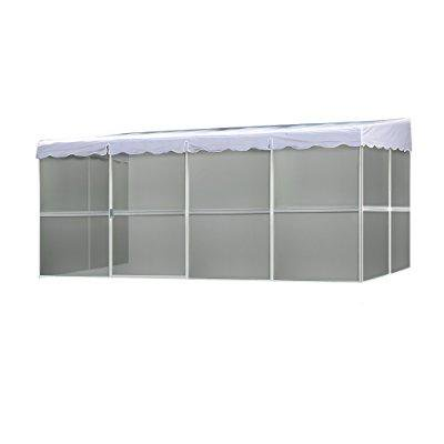 Swell Patio Mate 8 Panel Screen Enclosure 89322 White With Gray Roof Interior Design Ideas Clesiryabchikinfo