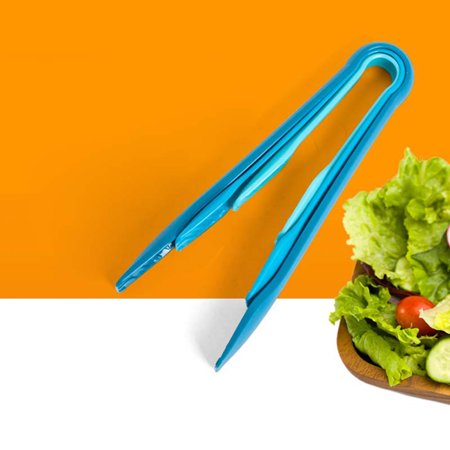 Jeobest 3PCS Plastic Bread Clamp - Food Grade Plastic Bread Tongs Food Salad Barbecue Clip Roasting Clamp Kitchen Tools Different Size for Family Picnic Tool Blue (6 Inch & 8-Inch & 10 Inch) MZ 6' Food Grade Sticks