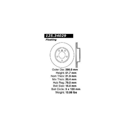 Go-Parts OE Replacement for 1992-1999 BMW 318is Front Disc