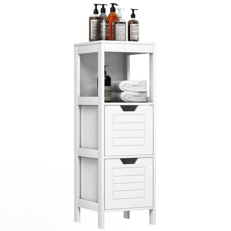 Costway Bathroom Wooden Floor Cabinet Multifunction Storage Rack Stand Organizer Bedroom - image 4 of 10
