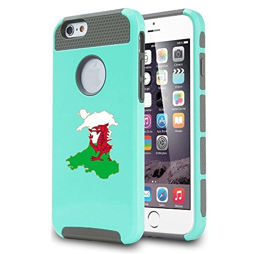 Apple iPhone 5c Shockproof Impact Hard Case Cover Wales Welsh Flag (Teal ),MIP