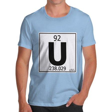 mens t shirt periodic table element u uranium novelty t shirt christmas walmartcom - Periodic Table Of Elements Uranium