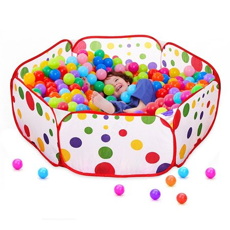 1 Tent Funny Gadgets Eco-Friendly Ocean Ball Tent Pit Pool BOBO Ball Folding Cloth Children Game Play House Outdoor Baby for Funny Toy (Without Balls)