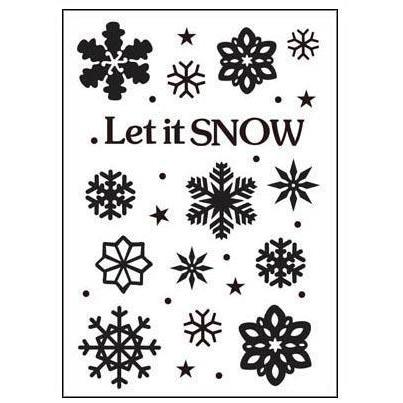 Ecstasy Crafts Crafts-Too Embossing Folder 4 X6  - Let It Snow 2