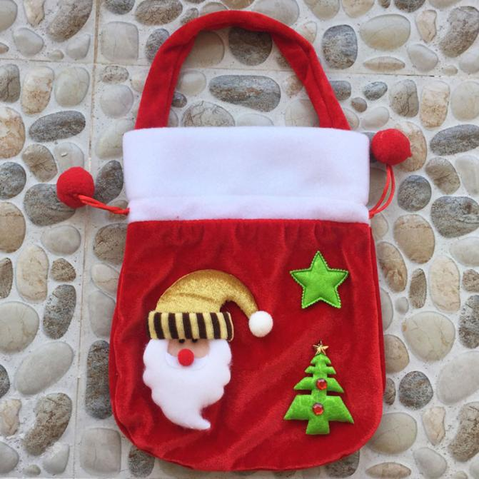 DZT1968 Xmas Decor Wedding Home Party Candy Gift Christmas Bag A