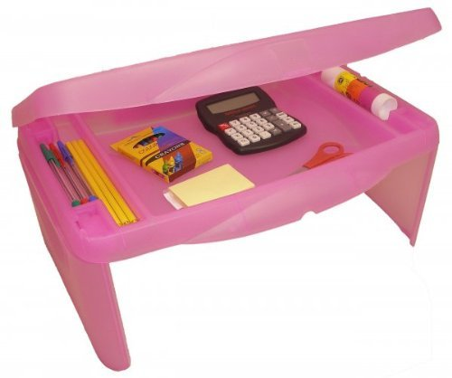 "Storage Folding Lap Desk (Frosted Pink) (2.5""H x 17.5""W x 13""D) by Dial"