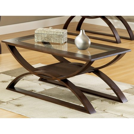 - Greyson Living  Del Ray Glass Insert Coffee Table