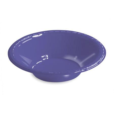 Club Pack of 240 Grape Purple Small Round Premium Disposable Plastic Party Bowls 12 oz. Premium Strength Paper Bowl