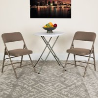 Flash Furniture HERCULES Series Curved Triple Braced and Double Hinged Vinyl Upholstered Metal Folding Chair, Multiple Colors