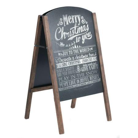 Chalkboard Menu (Costway 40'' Wood A-Frame Chalkboard Sign Menu Board Sidewalk Wedding)