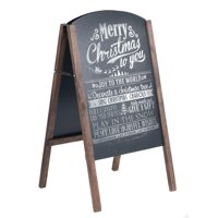 Costway 40'' Wood A-Frame Chalkboard Sign Menu Board Sidewalk Wedding Signage