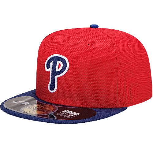 Philadelphia Phillies New Era On Field Diamond Era 59FIFTY Fitted Hat - Red/Royal