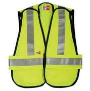 BIG BILL A648TY7 - S - OSFA - YEL Flame-Resistant Vest, OSFA, Yellow