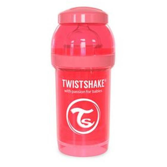 BnoInc 21185 180ml Twistshake Anti-Colic Baby Bottle & Accessories, Peach Dreamcatcher by BnoInc