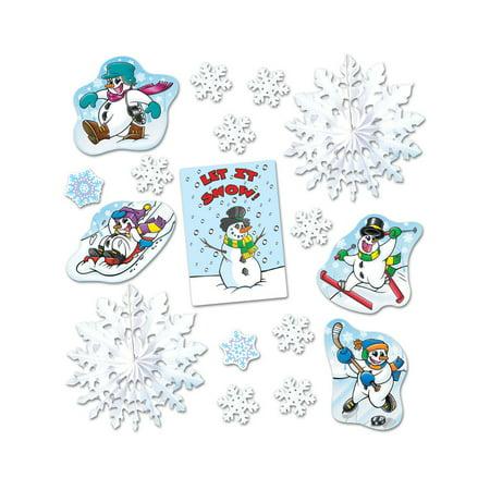 Beistle - 22356 - Let It Snow Decorama - Pack of 6 (Beistle Halloween Decorama)