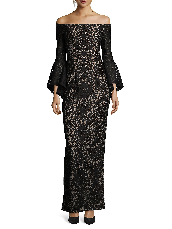 Off-the-Shoulder Long Sheath Dress