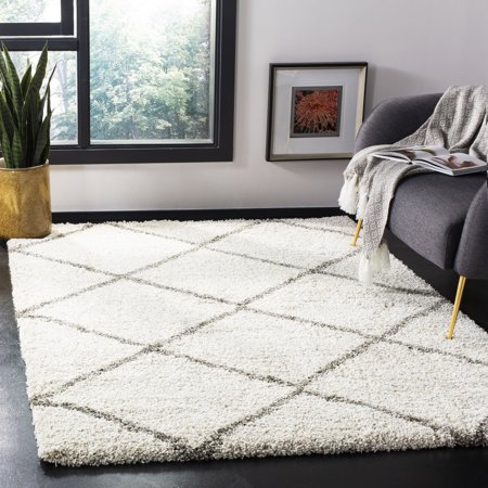 Safavieh Hudson Amias Geometric Shag Area Rug or Runner 8' Runner Transitions Runner