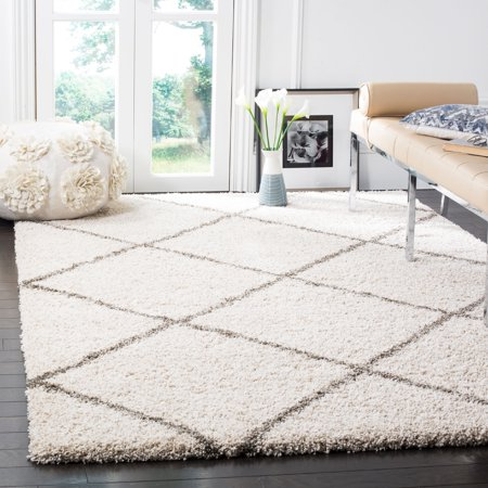 6' X 9' Runner - Safavieh Hudson Amias Geometric Shag Area Rug or Runner