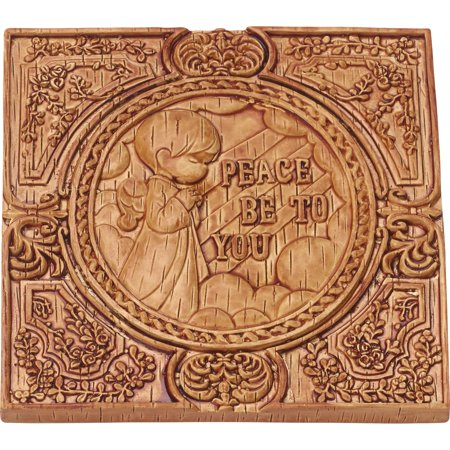 Precious Moments Peace Be With You Little Angel Wood Look Wall Plaque Resin 179103