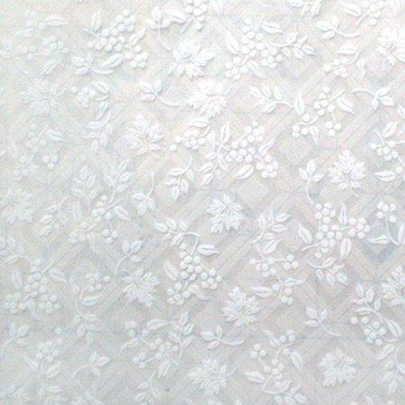 Pure Flower- Self-Adhesive Embossed Window Film Home -