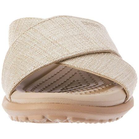 6f34e69d4c1e Crocs Women s Capri Shimmer Xband Sandal W Flat - image 1 ...