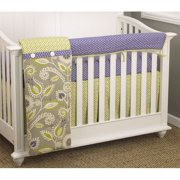 Periwinkle Front Crib Rail Cover Up Set