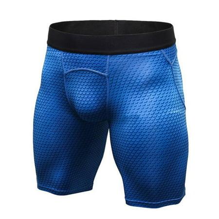 Men's Compression Quick Dry Shorts Workout Gym Short Pants