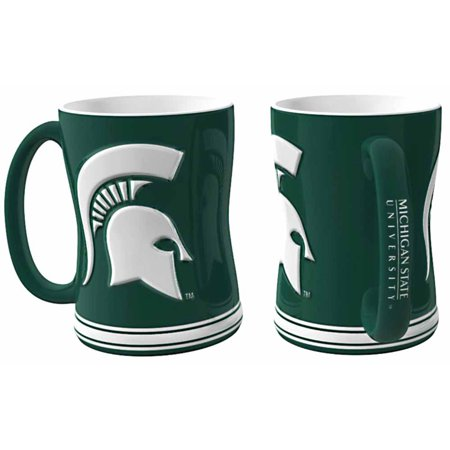 Michigan State Spartans Coffee Mug - 14oz Sculpted Relief