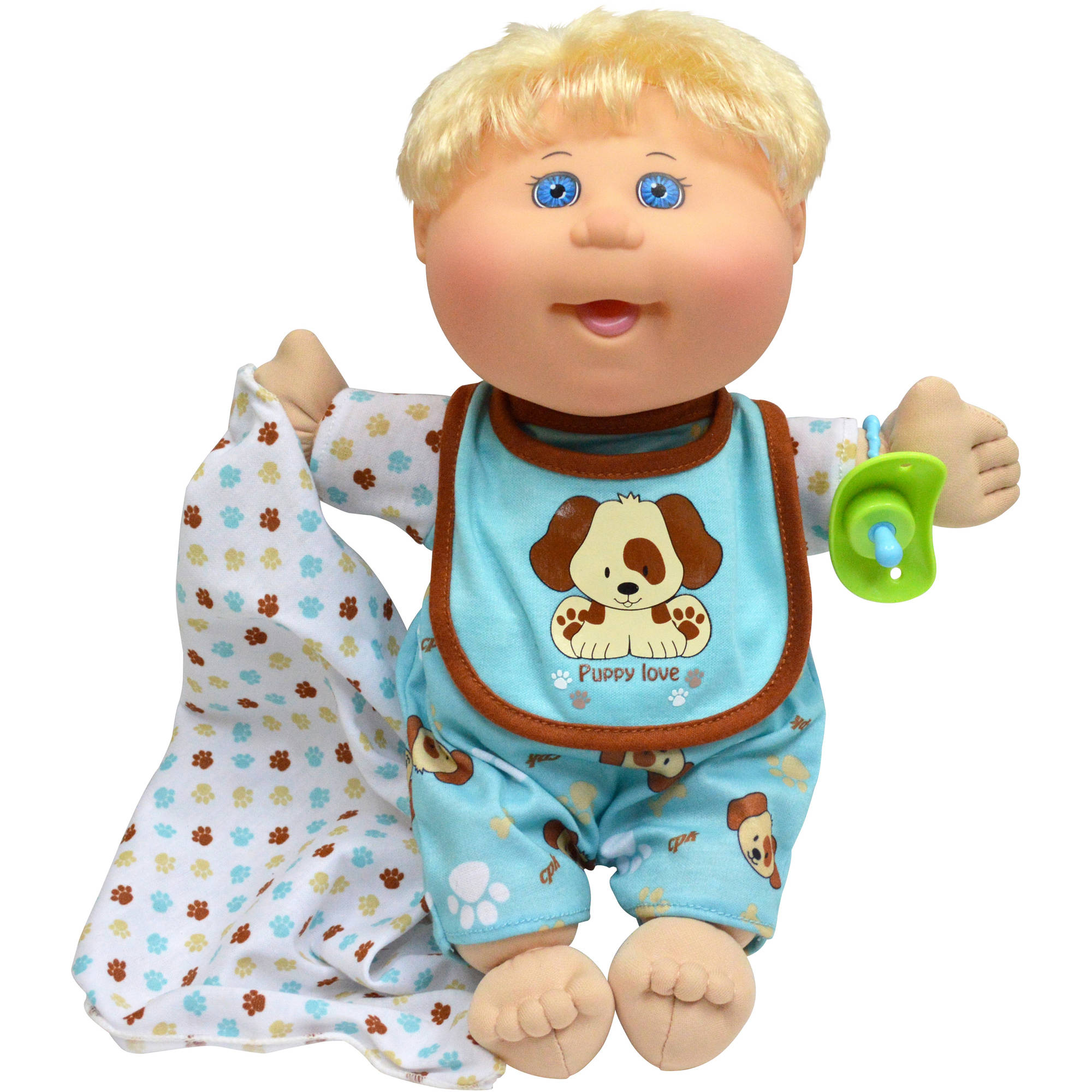 cabbage patch kids naptime babies doll blonde hair blue eye boy
