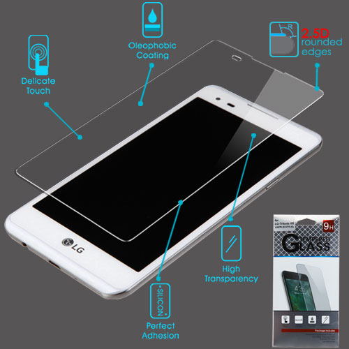 For LG Tribute HD/X Style/L53B/L56VL Tempered Glass Screen Protector Film (2.5D)