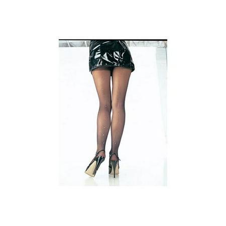 Pantyhose With Rhinestone Backseam 9909 - Pantyhose With Designs