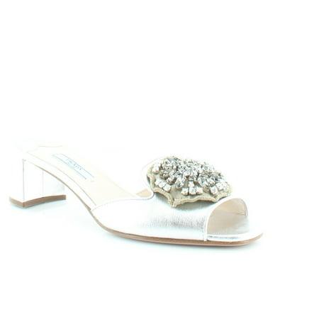 - Prada Nappa Silk 2 Women's Heels Argento Size 7.5 M