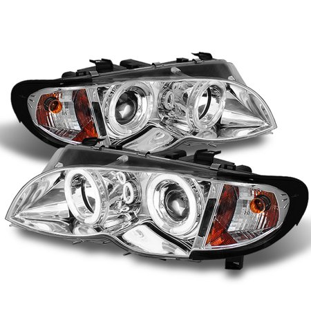 Fits 2002-2005 BMW E46 3-Series Sedan Halo Projector Headlights +Build in Corner Bmw E46 3 Series Sedan