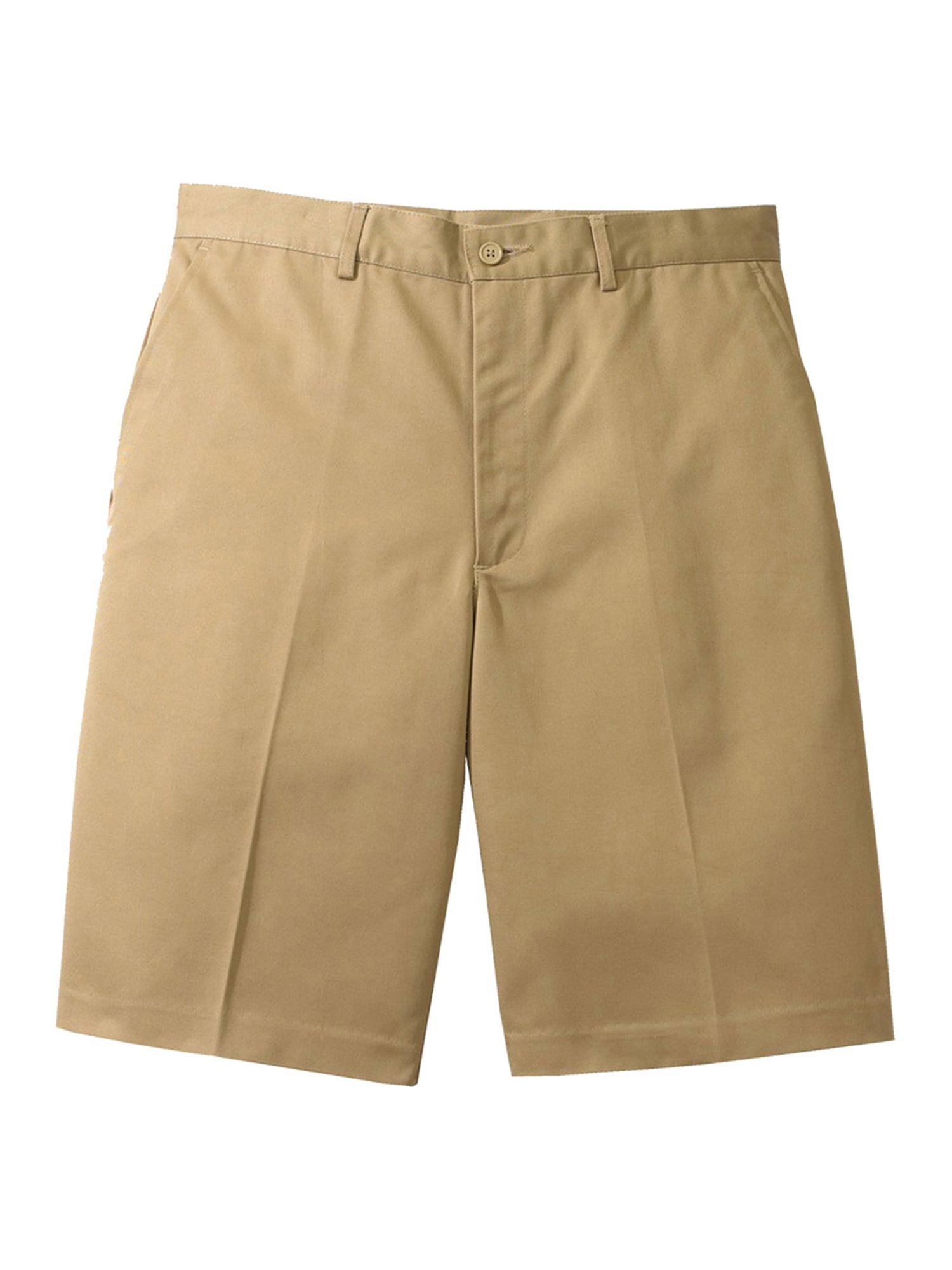Ed Garments Men's Flat Front Casual Chino Blend Short, TAN, 30