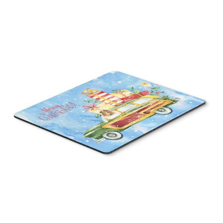 Merry Christmas Collie Mouse Pad, Hot Pad or Trivet CK2418MP ()