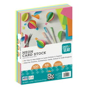 Pen + Gear Card Stock Paper, Assorted Neon, 8.5 x 11, 65 lb, 100 Sheets