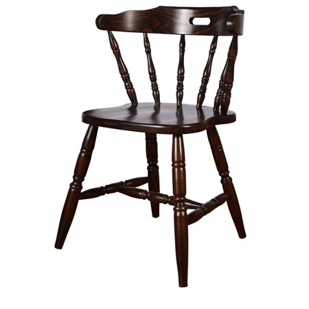Beechwood Mountain LLC Solid Wood Colonial Dining Chairs (Set of 2) Windsor Chairs, Side Chairs Walnut Walnut Finish Mission & Craftsman, French