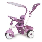 Little Tikes 4-in-1 Basic Edition Parent Push Kid Powered Adjustable Trike, Pink